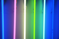bars of coloured light